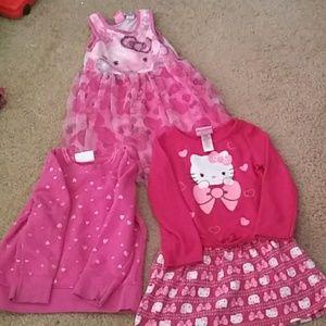 Girls dress & sweater bundle size 4T